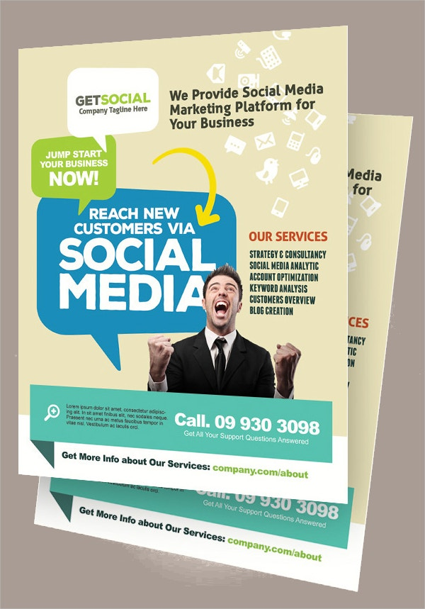 17 marketing flyer template free psd eps documents download social media marketing flyers accmission Image collections