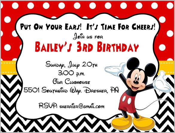 Mickey Mouse Clubhouse Invitation Template was perfect invitation design