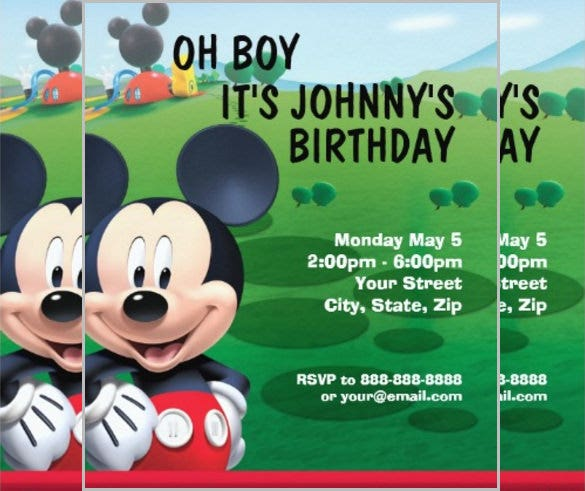 mickey mouse birthday invitation printed mickey mouse invitations
