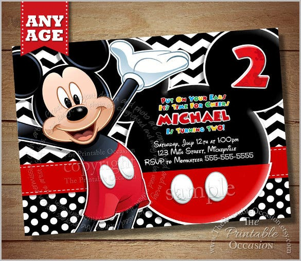 black chevron mickey mouse invitation mickey birthday invitation mickey mouse clubhouse photo invitation