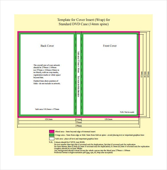 Dvd Case Template Pdf