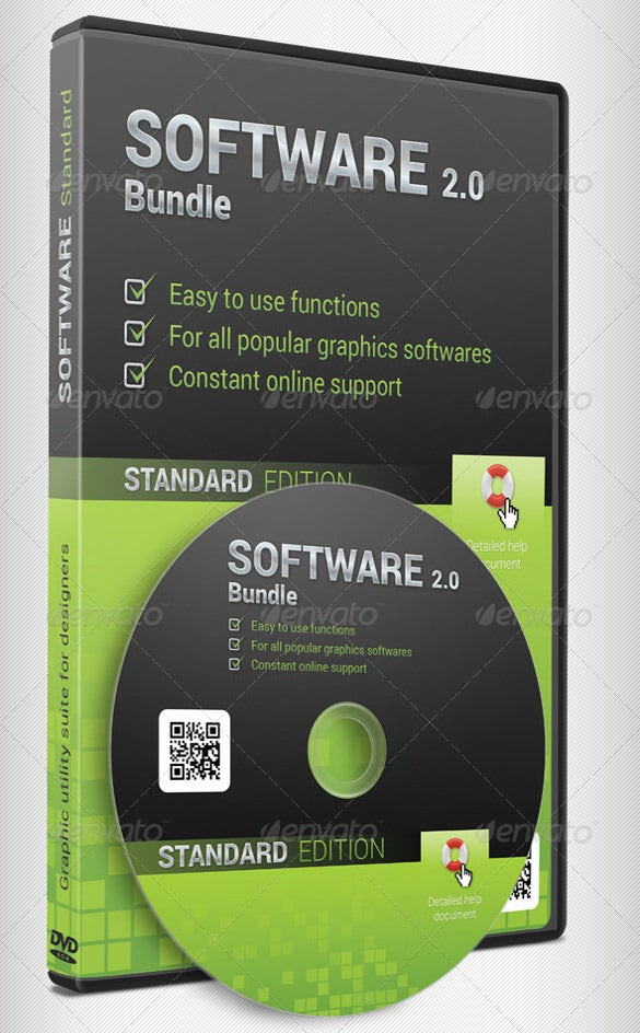 software dvd case template