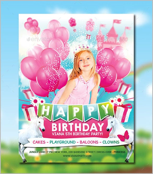 pink princess birthday party invitation for girl