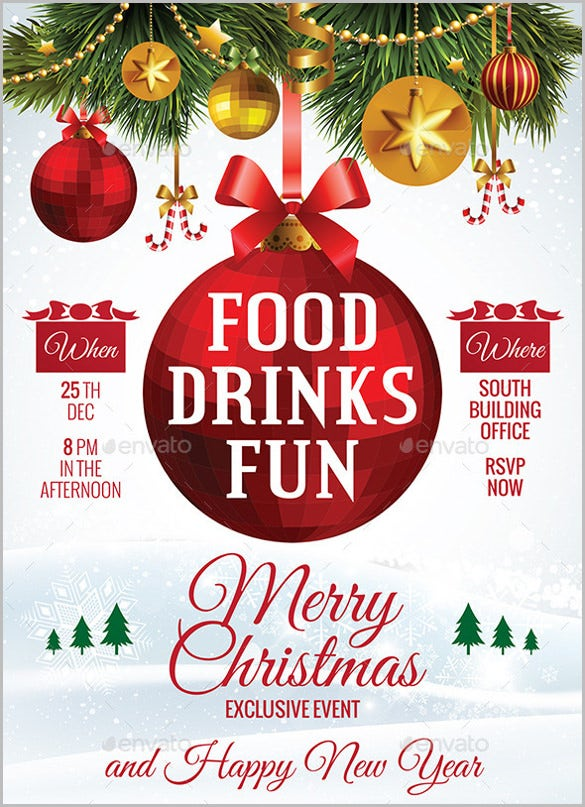 spirit of christmas with this beautiful party invitation