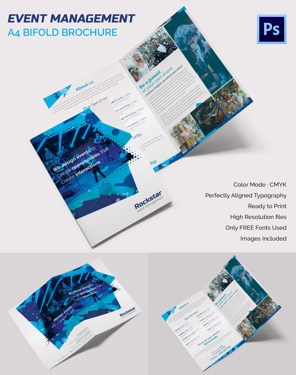 bifold brochure template - 16 event brochure templates psd designs free