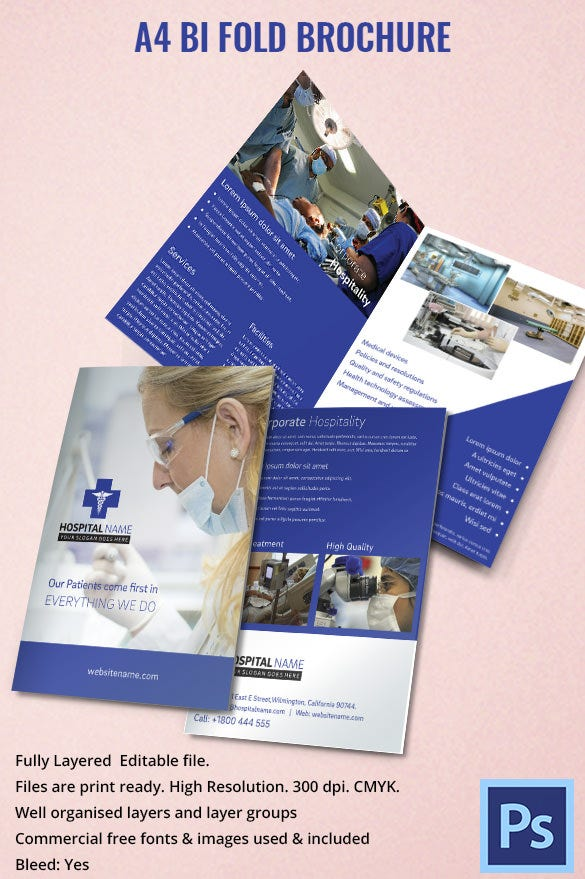 Drug Brochure Templates  Psd Illustrator Files Download