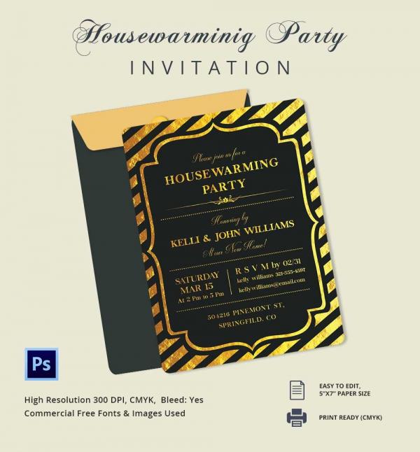 Editable Housewarming Invitation Template