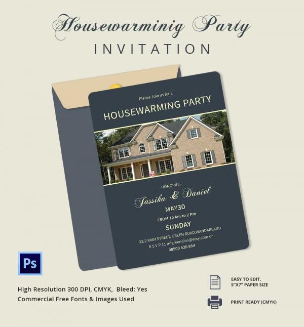 Unique Housewarming Invitation Template