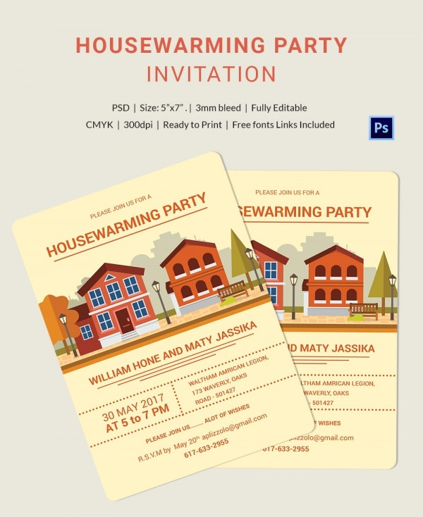 Vector Housewarming Invitation Template