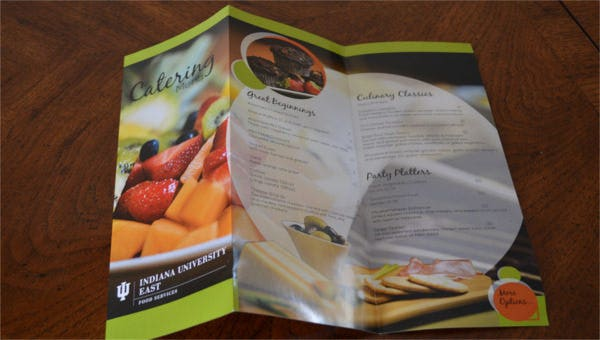 featured image catering menu template