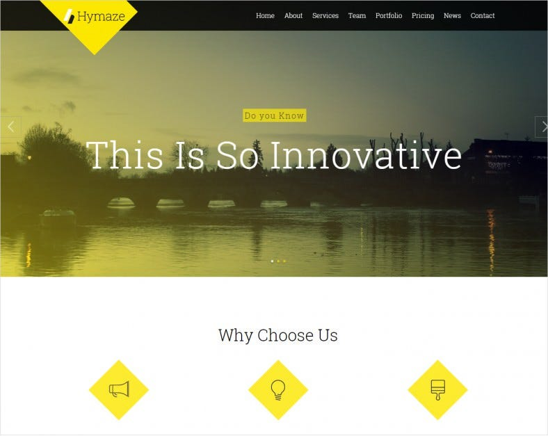 1hymaze yellow simple wordpress theme 43 788x627