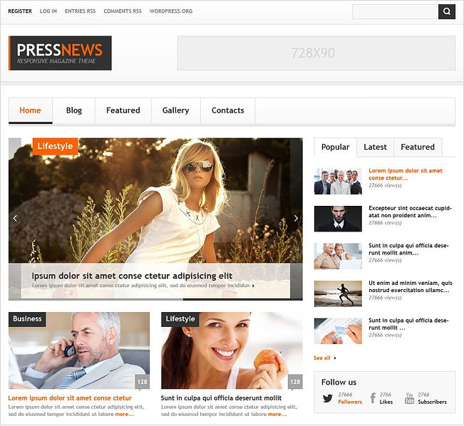1pressnews responsive wordpress themes 75