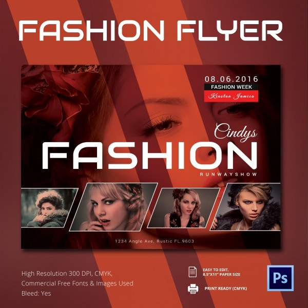 22 fashion flyer psd templates designs free for Fashion flyers templates for free
