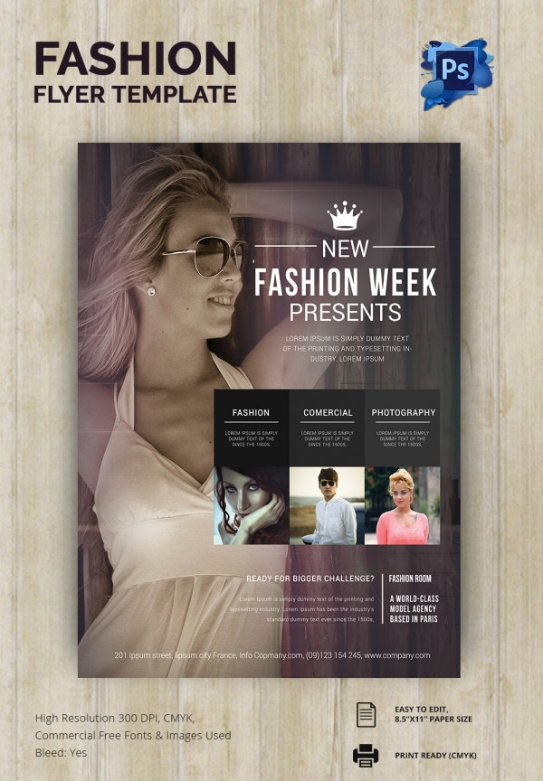 spring fashion show flyer templates free. Black Bedroom Furniture Sets. Home Design Ideas