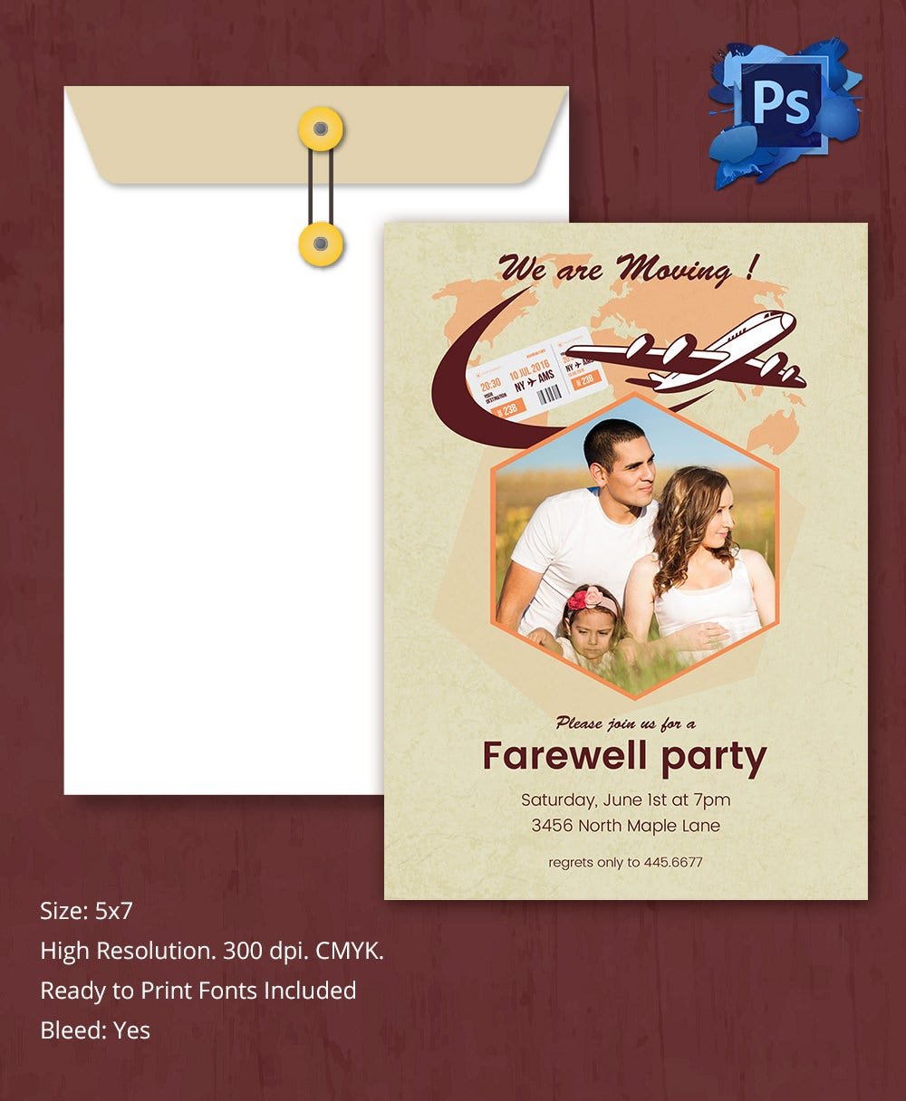 Farewell Invitation Party Template