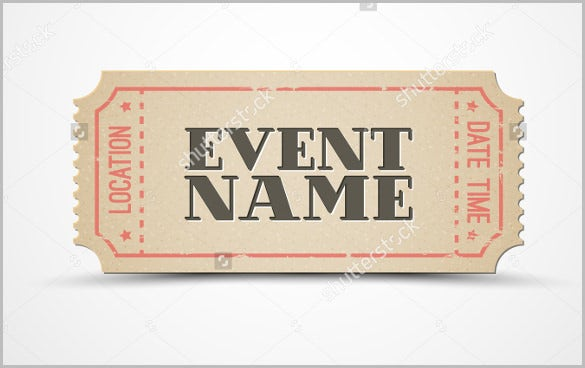 vector ticket invitation template