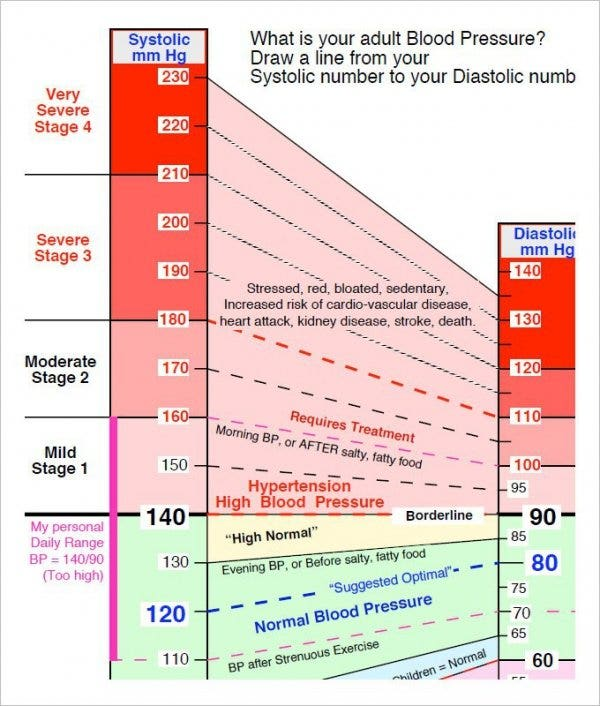 Blood Pressure Chart Template   Free Excel  Word Documents