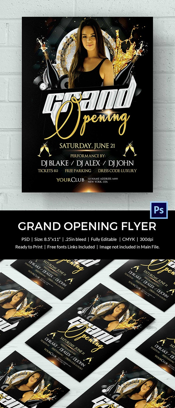 Club Grand Opening Flyer Template