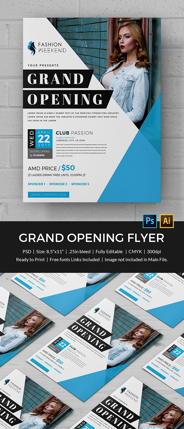 Fashion Grand Opening Flyer Template