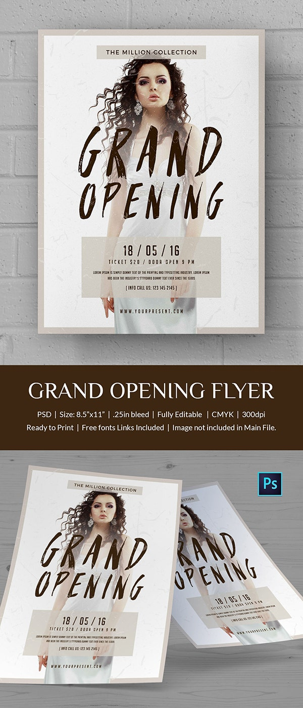 Printable Grand Opening Flyer Template
