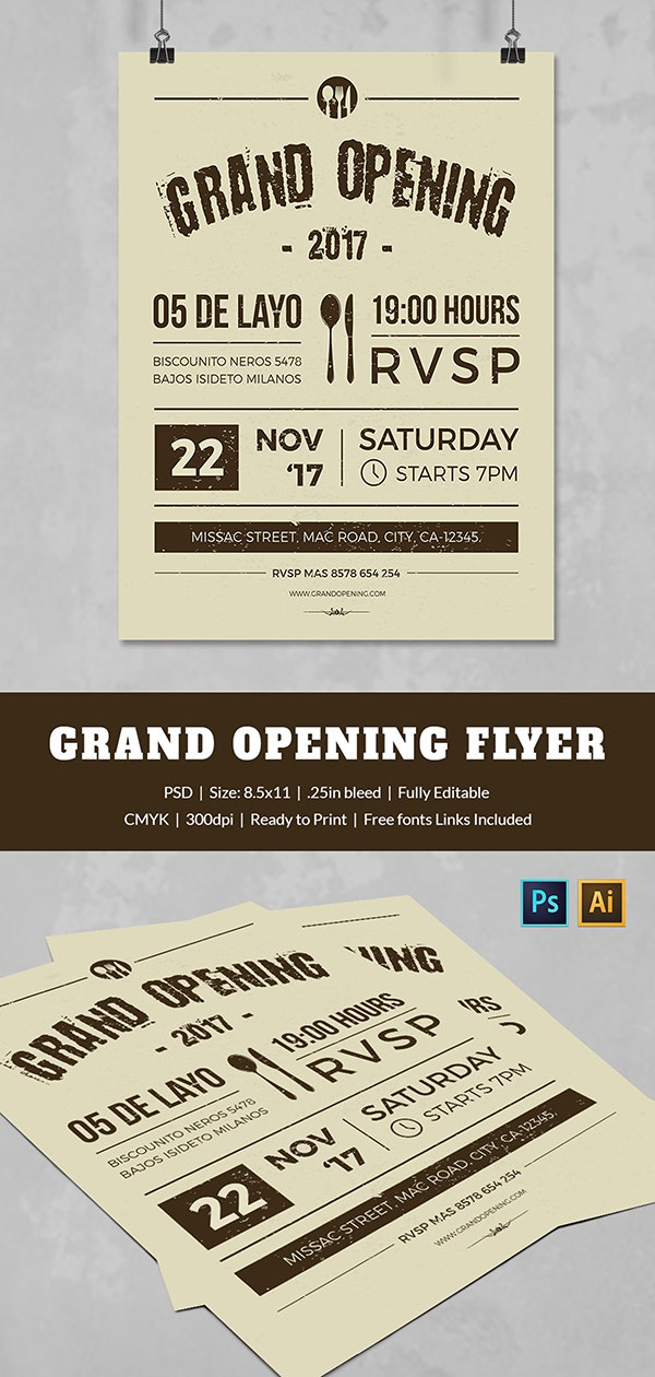 Customize Grand Opening Flyer Template
