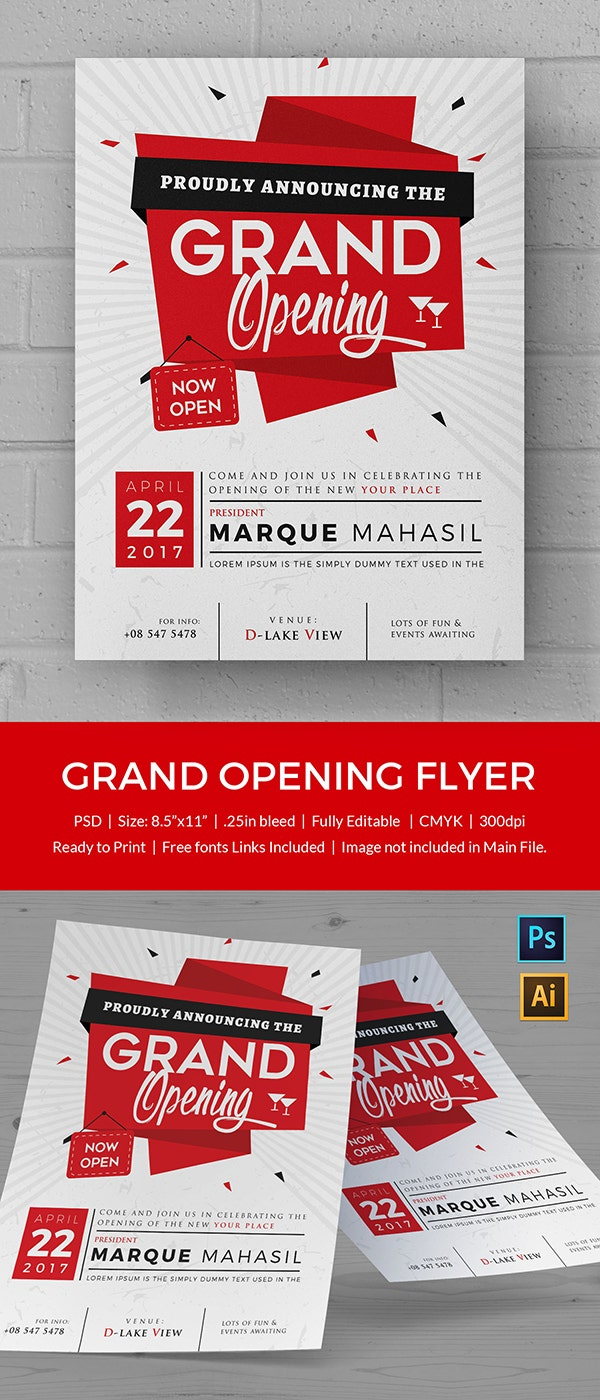 Grand Opening Flyer Template - 34+ Free PSD, AI, Vector EPS Format ...