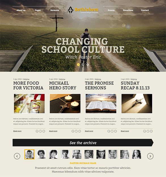fully responsive church with seo optimized