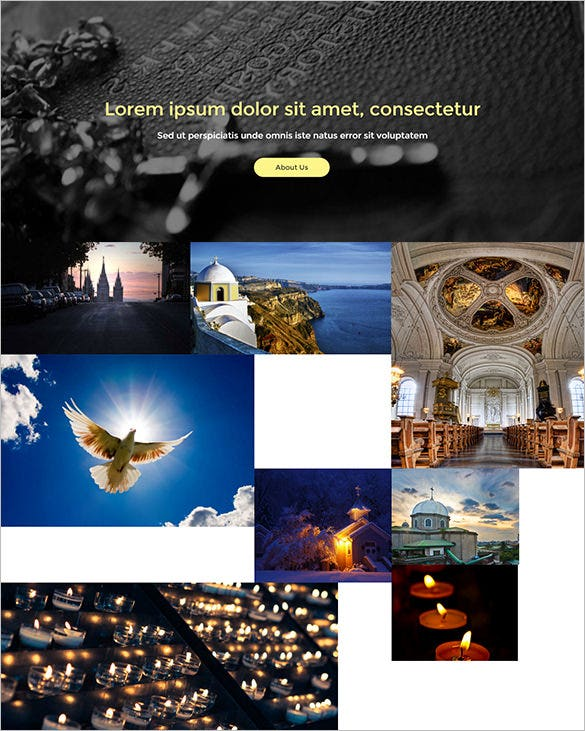 spectacular church html5 template