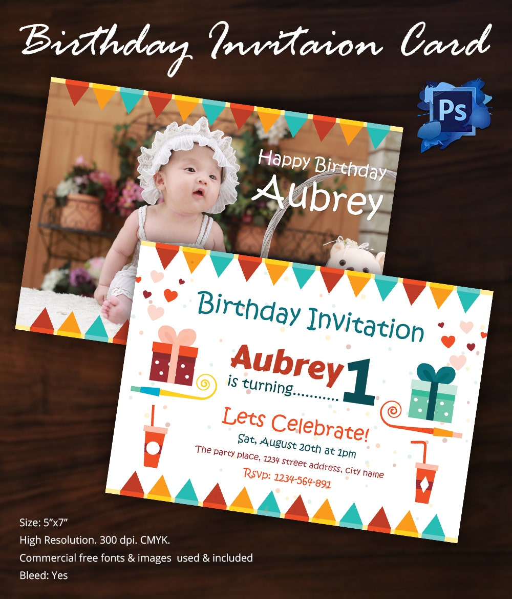 First-Birthday-Invitation-Template