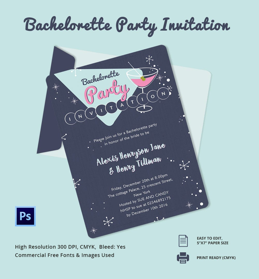 Printable Bachelorette Party Invitations – gangcraft.net