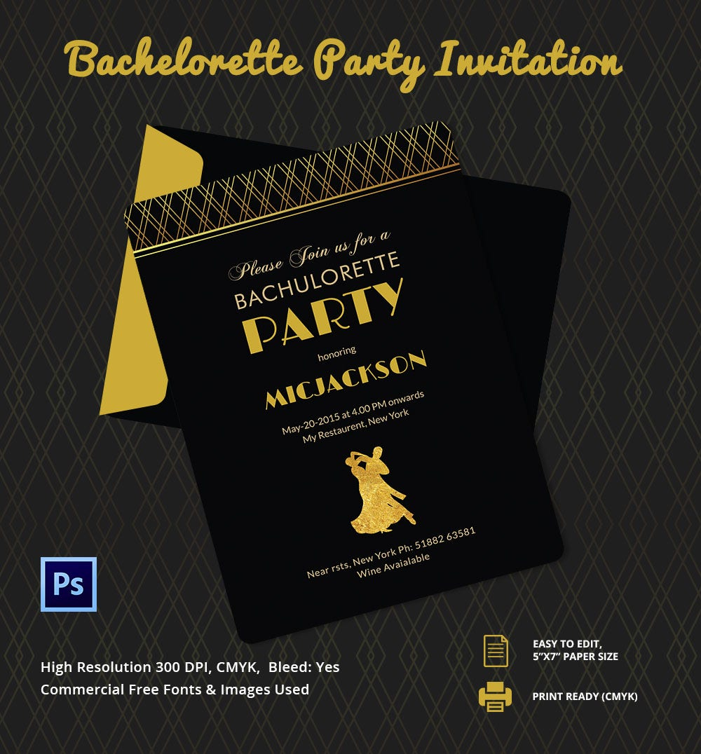 Event Invitations In PSD  Party Ticket Template