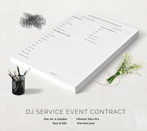 Event Contract Template - 18+ Free Word, Excel, Pdf Documents