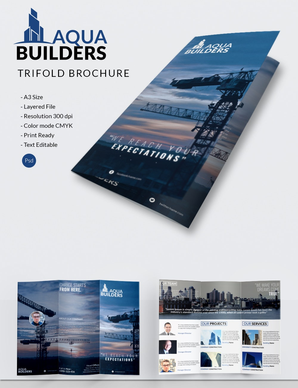 11 top construction company brochure templates premium tri fold construction company brochure template