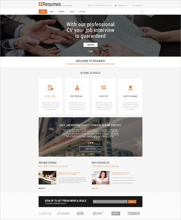 19 job portal html5 themes templates free premium for Html5 drop down menu template