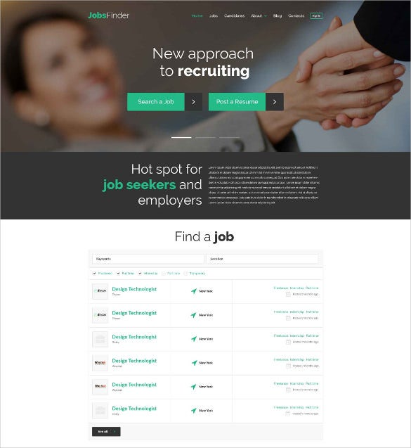 full responsive with html5 slider template