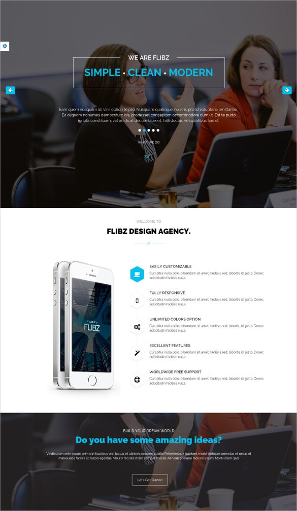 fully responsive html5 template