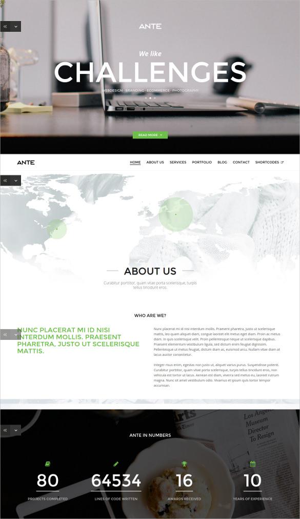 parallax html5 modern template