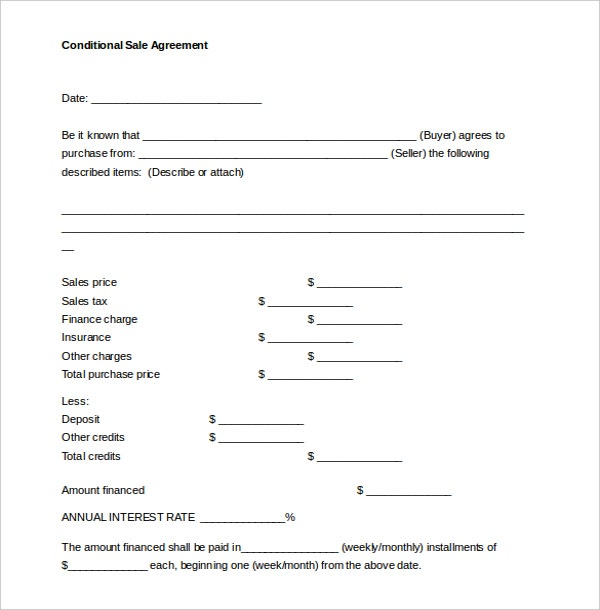 Sales Contract Template  Template