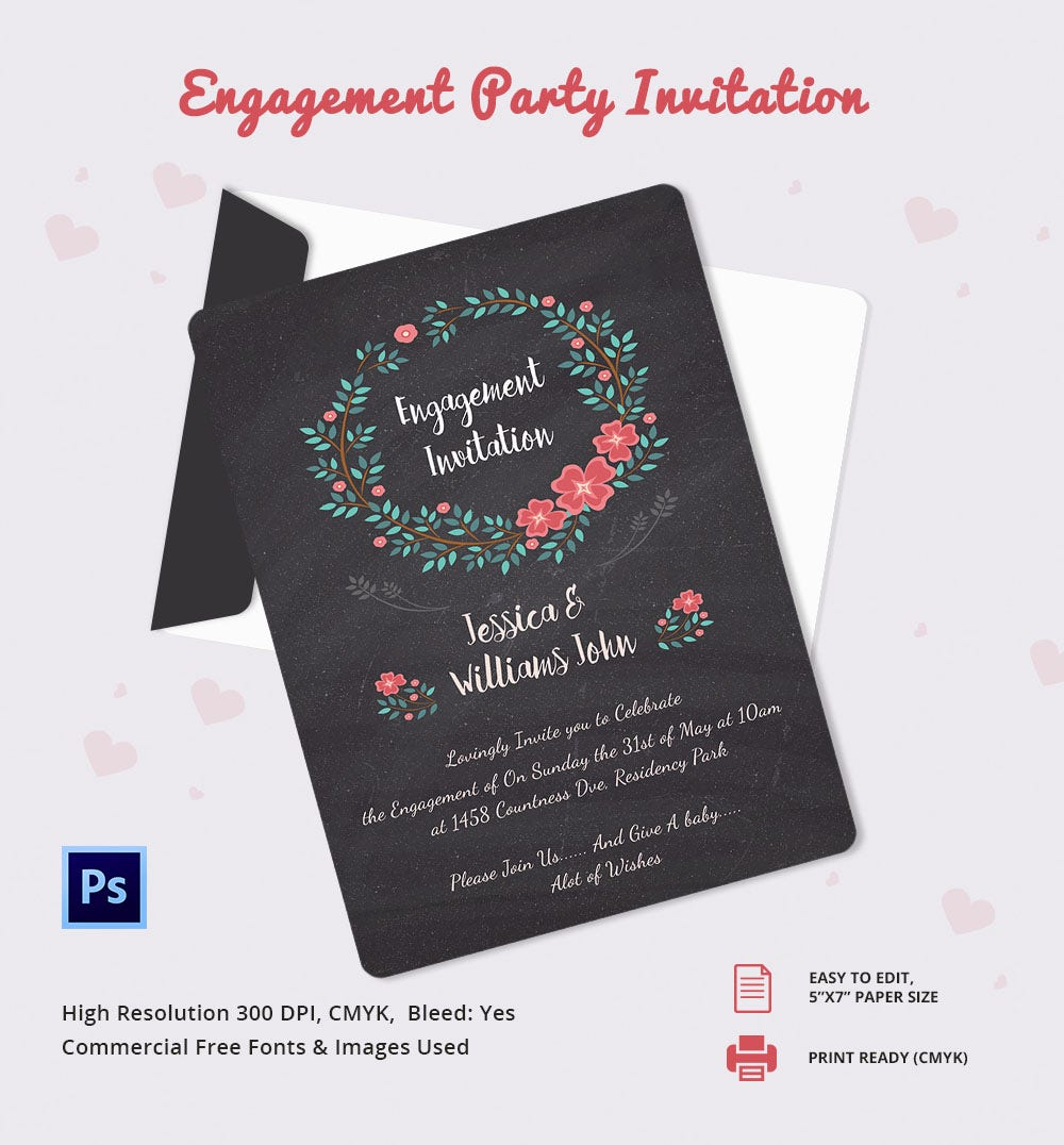 Free Engagement Party Invitations gangcraftnet