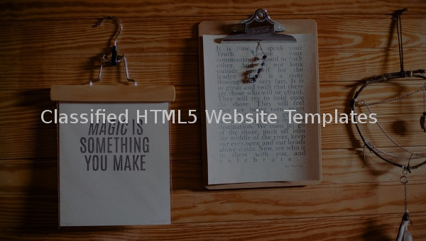 classifiedhtml5website