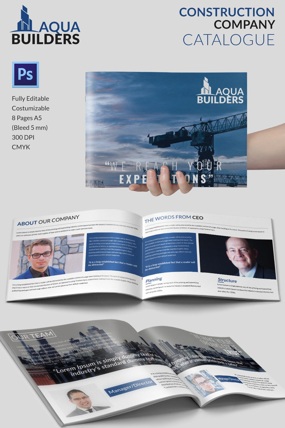 11 top construction company brochure templates free for Company brochure design templates
