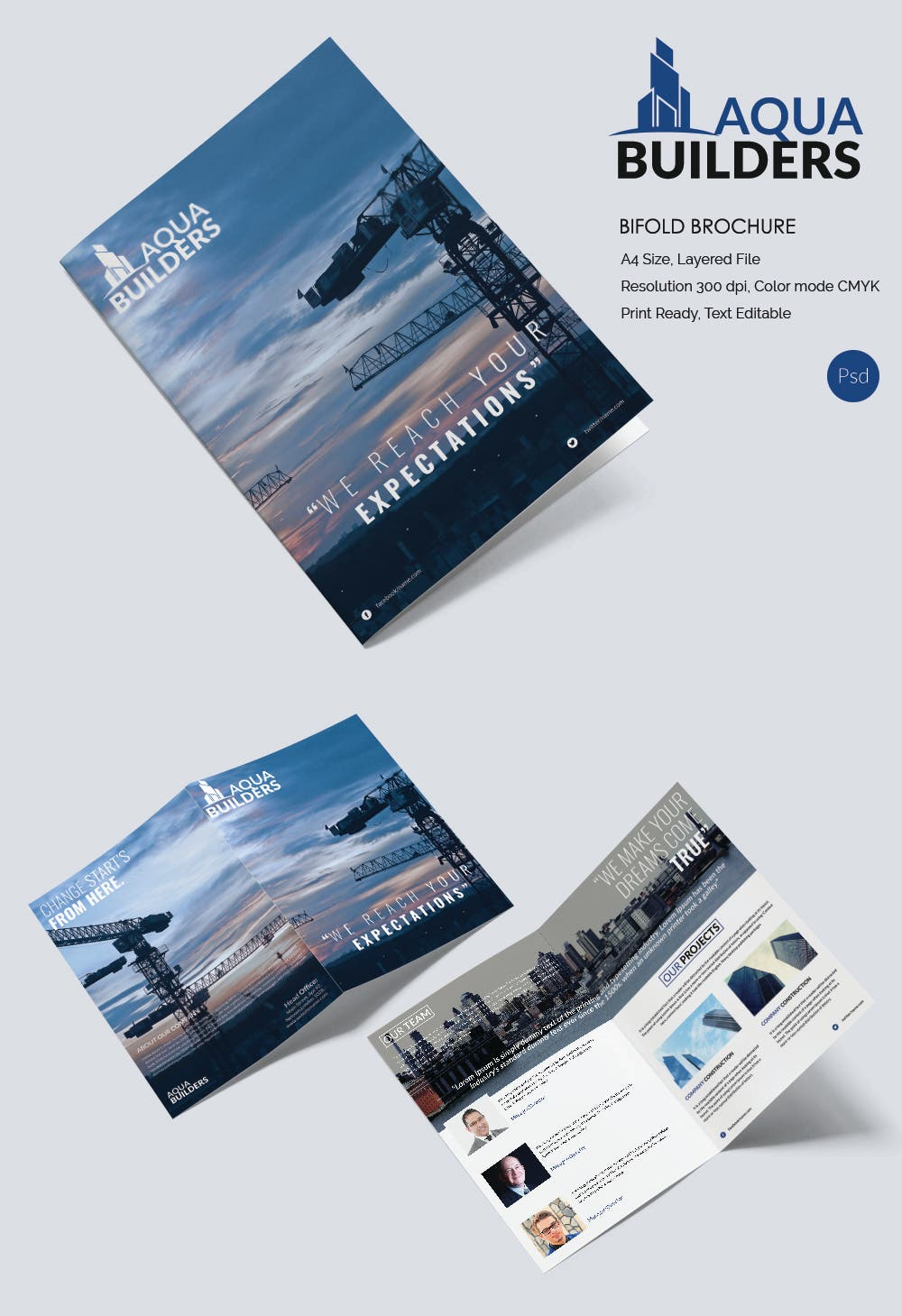 11 top construction company brochure templates free