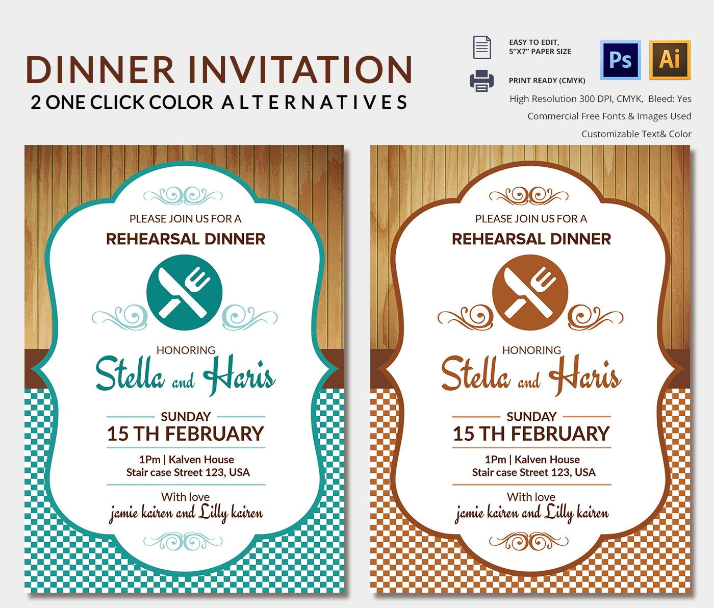 Lunch Invitation Template 25 Free PSD PDF Documents Download – Dinner Invitation Templates Free