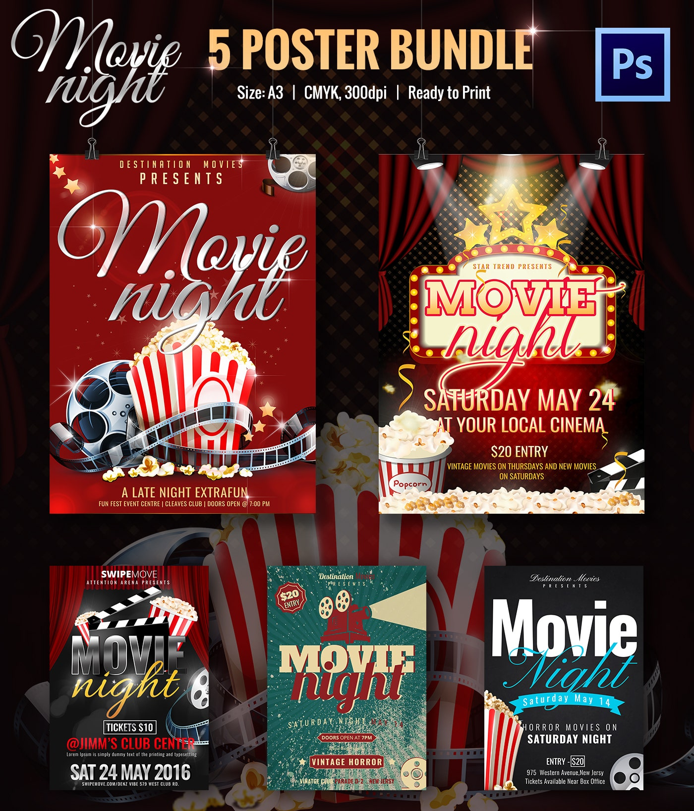 Movie poster template psd free download
