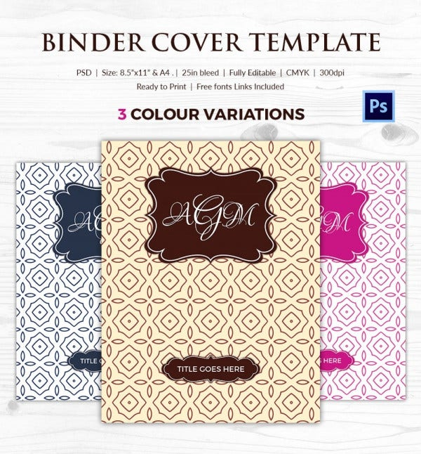 picture about Printable Binder Inserts referred to as Binder Protect - 27+ Free of charge Printable Phrase, PDF, JPG, PSD Layout