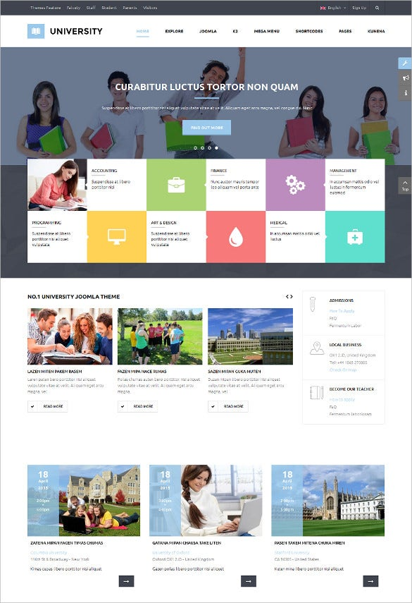 multipurpose education website template