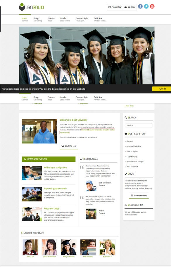 College website html templates free download tutoring a.