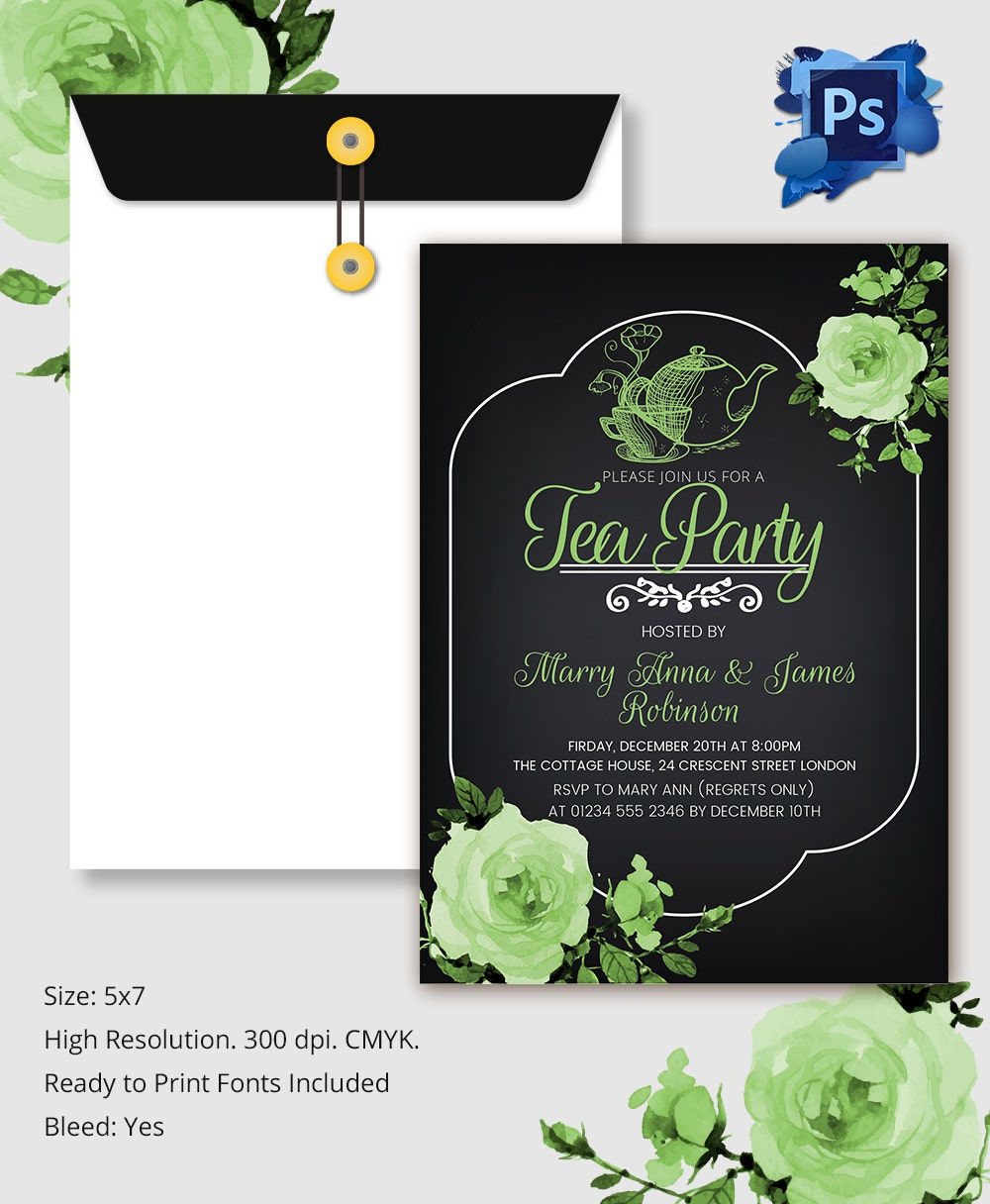 22+ Tea Party Invitation Templates