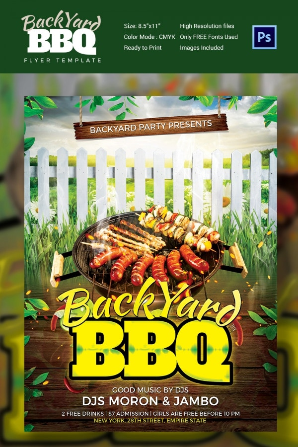 Backyard BBQ Flyer Template Design
