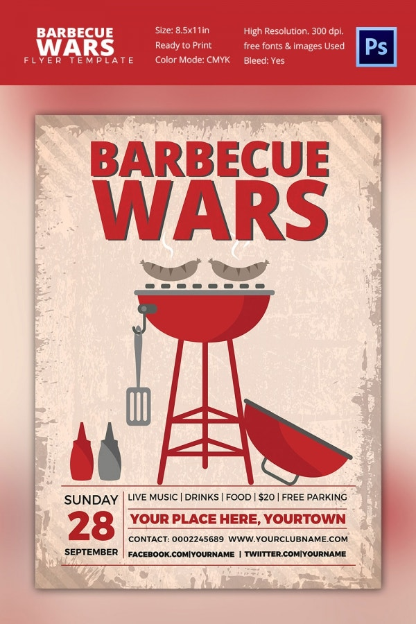 Best BBQ Wars Flyer Template